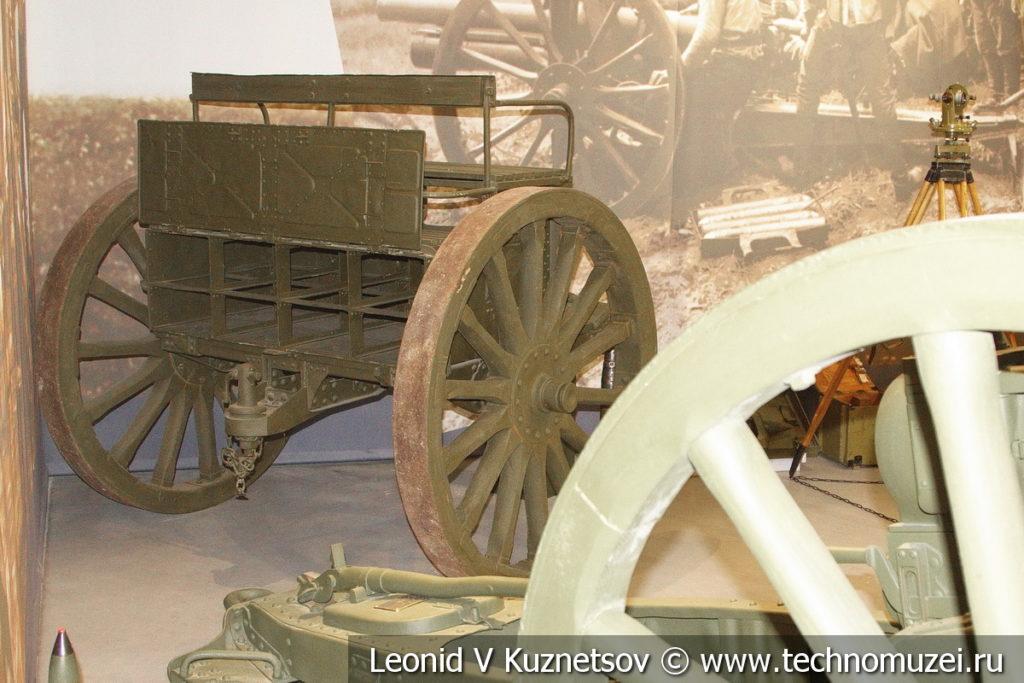 Артиллерийский передок в музее отечественной военной истории в Падиково