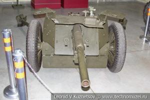 45-мм противотанковая пушка в музее отечественной военной истории в Падиково