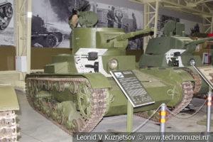 Т-26 лёгкий однобашенный танк 1933 года в музее отечественной военной истории в Падиково