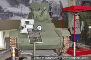 Т-26 лёгкий однобашенный танк 1939 года в музее отечественной военной истории в Падиково