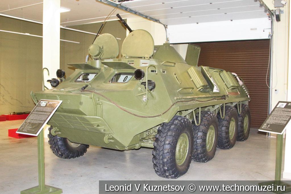 Бронетранспортёр БТР-60 в музее отечественной военной истории в Падиково