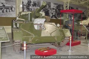 76-мм самоходная артиллерийская установка СУ-76М 1943 года в музее отечественной военной истории в Падиково