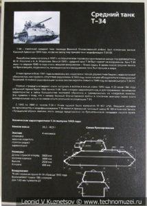 Т-34-76 средний танк 1940 года в музее отечественной военной истории в Падиково