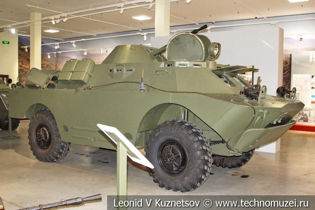 Бронированная разведывательно-дозорная машина БРДМ-2 в музее отечественной военной истории в Падиково