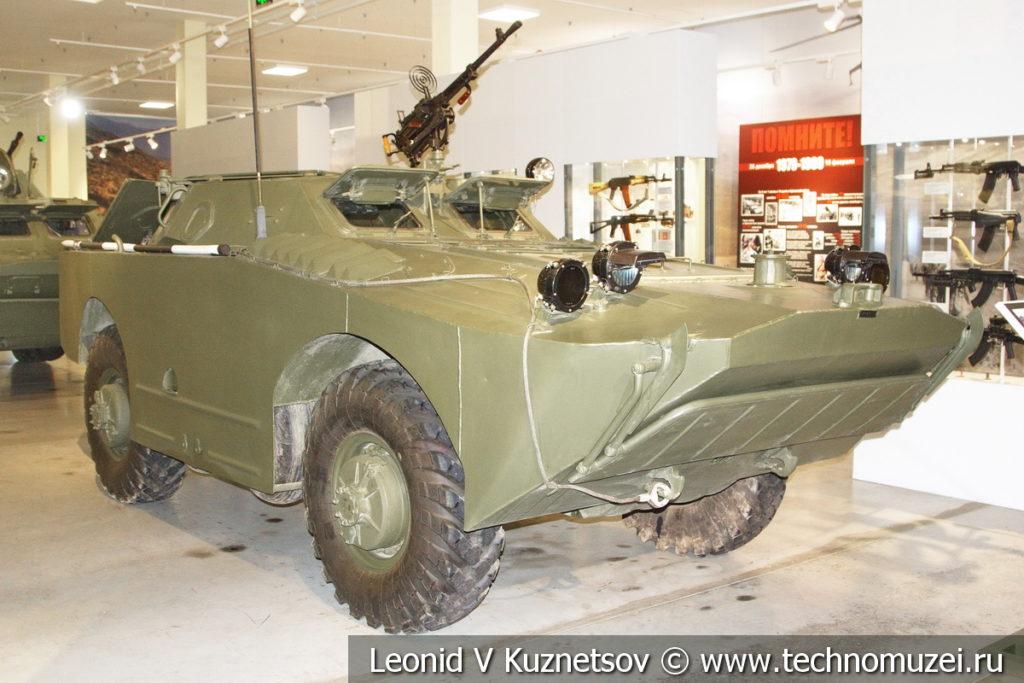 Бронированная разведывательно-дозорная машина БРДМ-1 в музее отечественной военной истории в Падиково