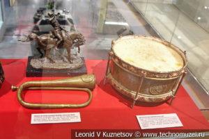 Барабаны и сигнальные рожки в музее отечественной военной истории в Падиково