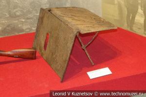 Противошрапнельный щит 1914 года в музее отечественной военной истории в Падиково