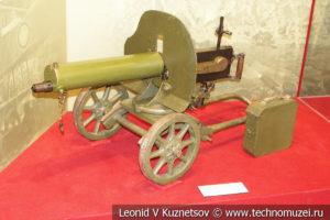 Станковый пулемёт Максима образца 1910 года на станке Соколова в музее отечественной военной истории в Падиково