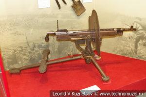 Американский 7-мм станковый пулемёт Colt-Browning M1895/14 в музее отечественной военной истории в Падиково