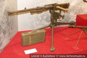 Французский 8-мм станковый пулемёт Hotchkiss MLE1914 в музее отечественной военной истории в Падиково