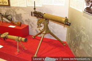 Английский 7,7-мм станковый пулемёт Vickers Mk I в музее отечественной военной истории в Падиково