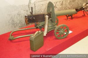 Станковый пулемёт Максима образца 1910/30 года на станке Соколова в музее отечественной военной истории в Падиково