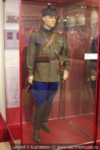 Повседневная форма звеньевого кавалерии в музее отечественной военной истории в Падиково
