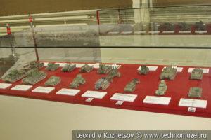 Модели бронетехники в музее отечественной военной истории в Падиково