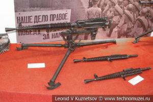 7,62-мм станковый пулемёт Дегтярёва ДС-39 образца 1939 года позднего типа в музее отечественной военной истории в Падиково