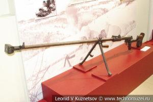Противотанковое ружьё образца 1941 года ПТРД конструкции Дегтярёва в музее отечественной военной истории в Падиково