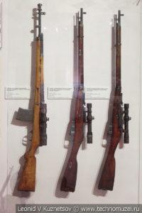 Снайперские винтовки РККА в музее отечественной военной истории в Падиково