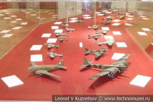 Советская авиация в моделях в музее отечественной военной истории в Падиково